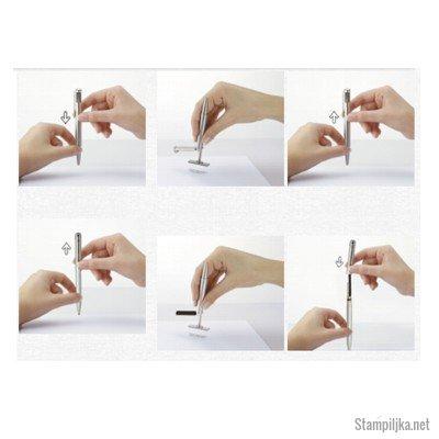 preprosta uporaba svinčnika in štampiljke